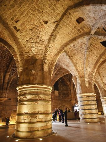 Interior of the Crusader Castle, Akko, Israel, Middle East