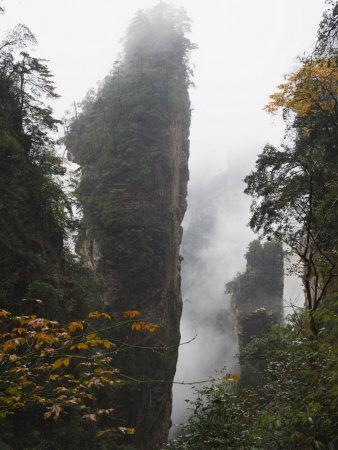 Karst Limestone Rock Formations at Zhangjiajie Forest Park, Wulingyuan Scenic Area, Hunan Province