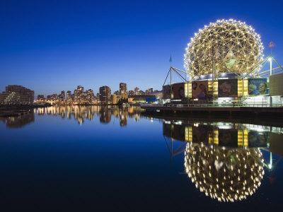 Telus Science World, on False Creek, Vancouver, British Columbia, Canada, North America