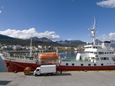 Ships in Docks in the Southernmost City in the World, Ushuaia, Argentina, South America