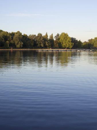 Boats on the Serpentine, Hyde Park, London, England, United Kingdom, Europe