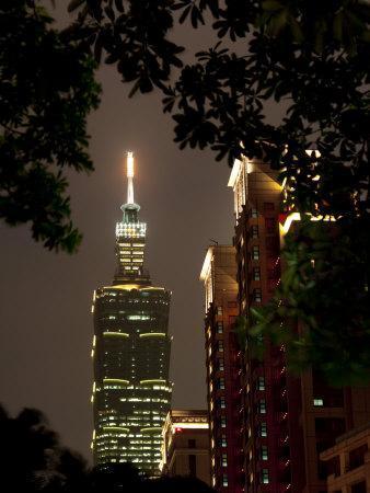Taipei 101 at Night, Taipei, Taiwan, Asia