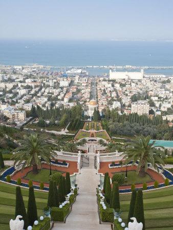 Shrine of the Bab, Bahai Gardens, Haifa, Israel, Middl Eeast