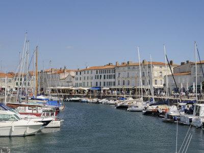 Harbour and Quayside, St. Martin-De-Re, Ile De Re Charente-Maritime, France, Europe