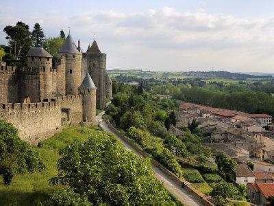 Walled and Turreted Fortress of La Cite, Carcassonne, Languedoc