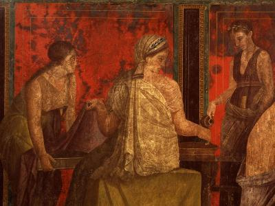 Women Performing Cult of Eleusinian Mystery, Fresco, from Villa of Mysteries, Pompeii