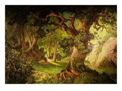 The Forest Crossed by Parsifal to Liberate Amfortas at Castle of Grail, from Opera Parsifal