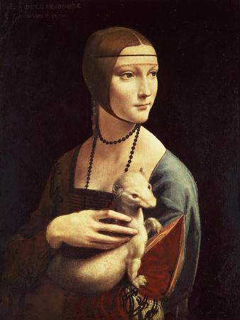 Cecilia Gallerani, Mistress of Ludovico Sforza, Portrait Known as Lady with the Ermine, c. 1490