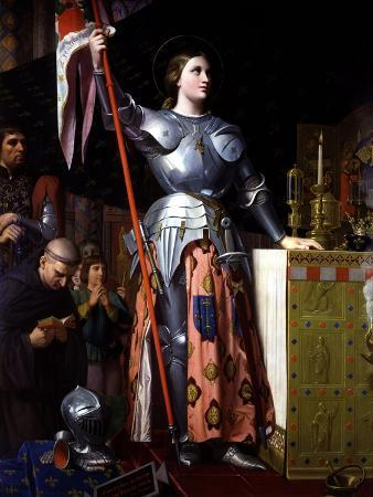 Saint Joan of Arc at Coronation of King Charles VII in Reims Cathedral