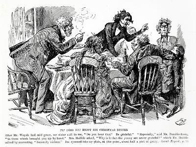 Pip Does not Enjoy his Christmas Dinner, Illustration from Great Expectations