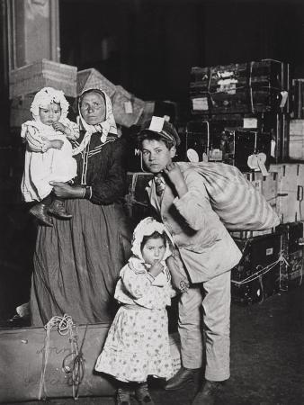 Italian Immigrants Arriving at Ellis Island, New York, 1905