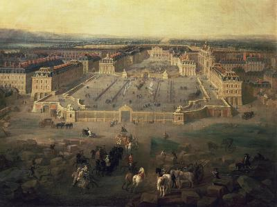 Chateau of Versailles, France, seen from the Place d'Armes, 1722