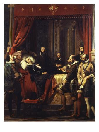Henry IV, King of France and Navarre, on his Deathbed at the Louvre, Paris, 16 May 1610