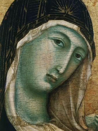 Face of Virgin Mary, from Madonna with Child altarpiece, Convent of San Domenico