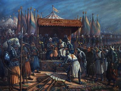 Richard the Lionheart, 1157-99 King of England, Surrendering to Saladin