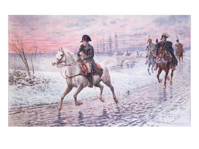 Napoleon on the Retreat from Moscow in 1812