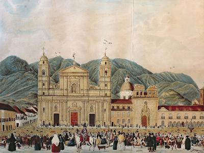 The Plaza de Bolivar, Bogota, 1837