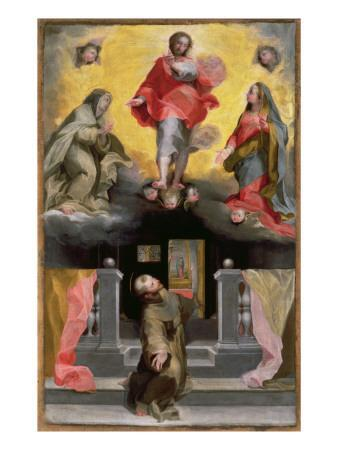 Christ Forgiving St. Francis in a Vision