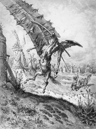 Don Quixote and the Windmills, from 'Don Quixote de la Mancha' by Miguel Cervantes