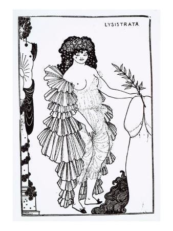 Lysistrata Shielding Her Coynte, Illustration for Lysistrata by Aristophanes