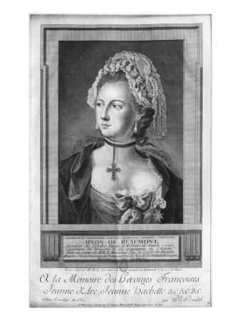 The Chevalier d'Eon, Dressed as a Woman