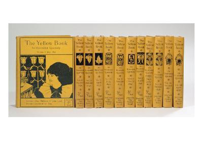 Cover and Spine Designs for 'The Yellow Book', Volumes II-XIII, published 1894-97