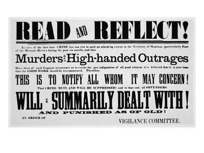 Vigilance Committee Notice, c.1860