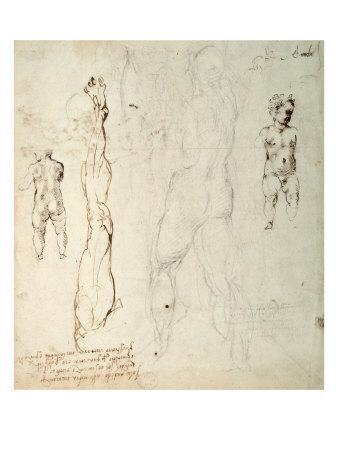 Study of the Christ Child and an Anatomical Drawing with Notes