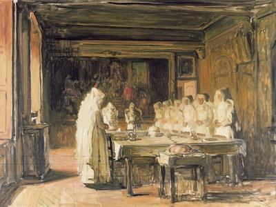 The Sisters of the Hospice de Beaune Saying Grace, end nineteenth century