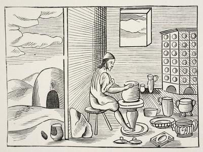 A Potter, from 'Orbis Sensualium Pictus', Pub. 1658