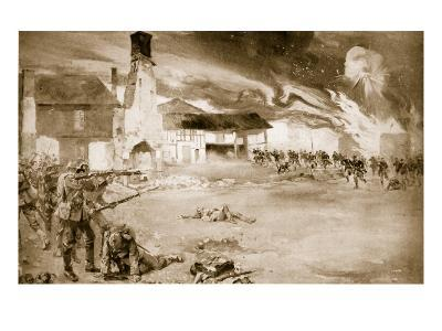 French Defeat the German Imperial Guard in a Village Which Changed Hands Four Times, 1914-19