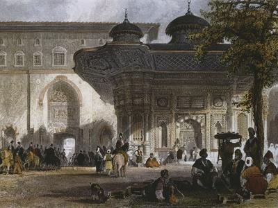 Imperial Gate of Topkapi Palace and Fountain of Sultan Ahmed III, Istanbul, 1839