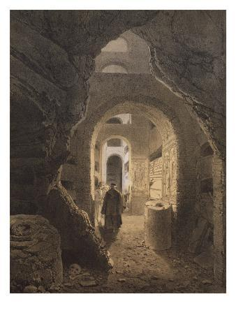 Catacombs of San Calixto in Rome, Illustration from the Album 'Rome Dans Sa Grandeur', 1870