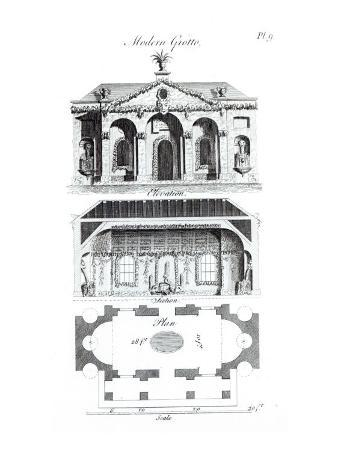Modern Grotto, from 'Grotesque Architecture or Rural Amusement', by William Wrighte, published 1767