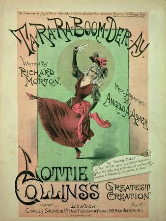 Music Cover for Ta-Ra-Ra-Boom-Der-Ay, Published by Charles Sheard and Co, 1891