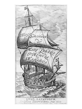 Frontispiece to 'De mari libero', by Hugo Grotius and Paulus van Merula 'de Maribus', 1633