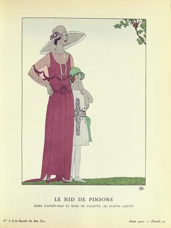 Le Nid de Pinsons, from 'Le Gazette du Bon Ton' 1922