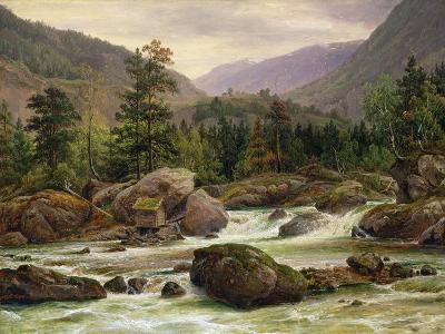 Norwegian Waterfall, 1840