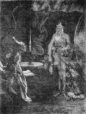 Marley's Ghost, Illustration from 'A Christmas Carol' by Charles Dickens