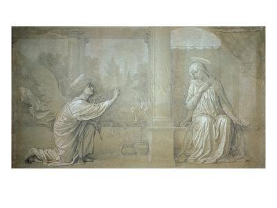 The Annunciation, Preparatory Cartoon for the Cappella Raffo fresco in Misericordia Cemetery, Siena