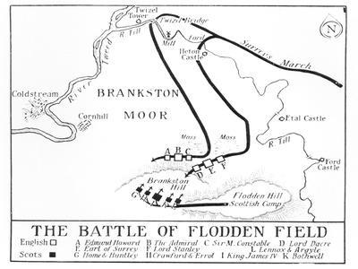 Plan of the Battle of Flodden Field in 1513
