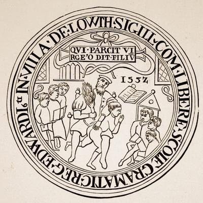 Seal of Louth Grammar School, 1552