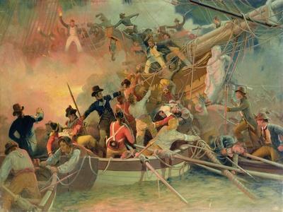 The English Navy Conquering a French Ship Near the Cape Camaro