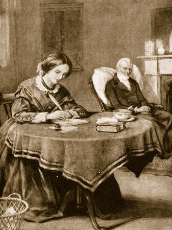 Charlotte Bronte Working on 'Jane Eyre'