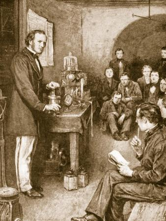 Lord Kelvin Began His Scientific Researches in Glasgow in Wine-Cellar, Converted into a Laboratory