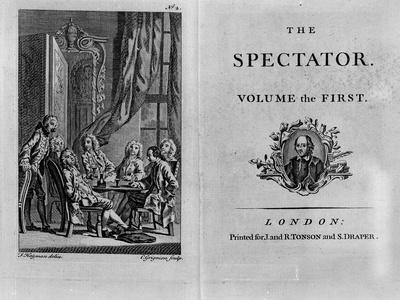 Title Page of the First Volume of the Collected Edition of the Spectator, Published C.1788