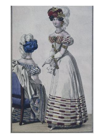Fashion Plate, Paris, Illustration from 'Le Petit Courrier Des Dames', C.1820