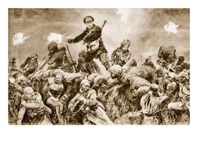 For the Glory of Raj: Indian Troops Charging the German Trenches at Neuve Chapelle