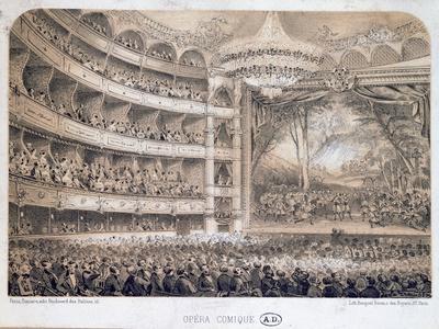 The Opera Comique in Paris, 1850-60