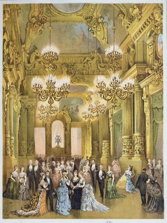 The Interval at the Opera Garnier. c.1875
